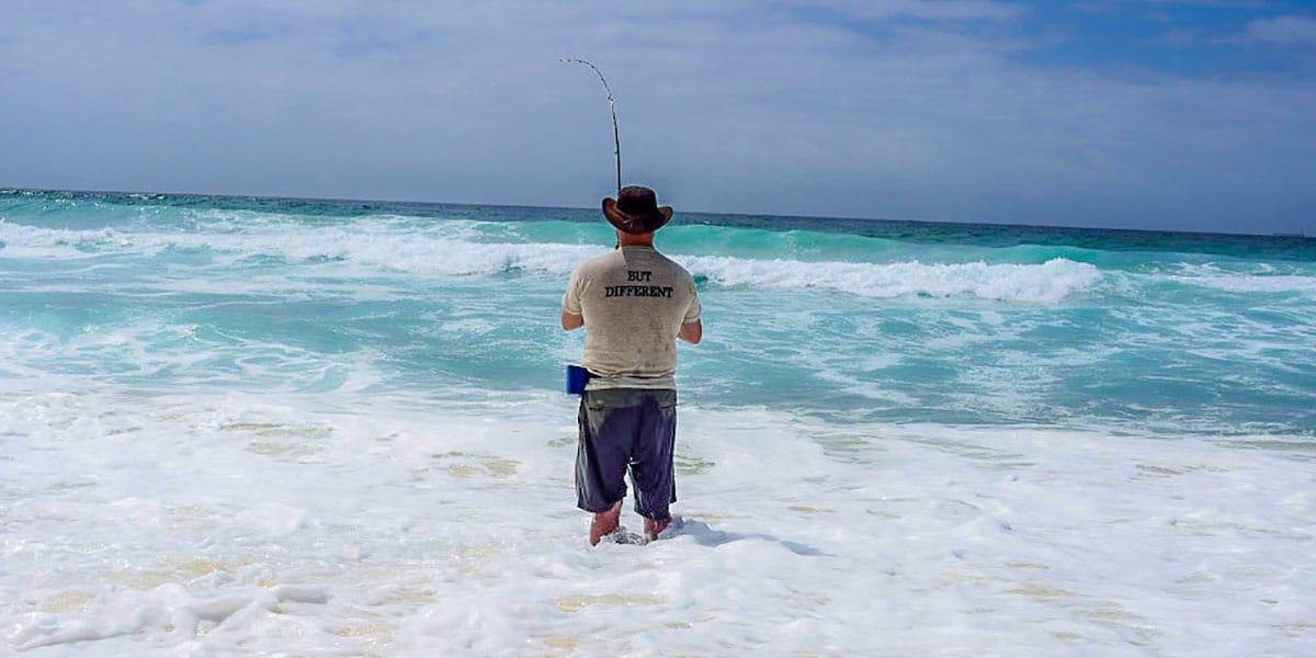 surf fishing, beach fishing, Australia fishing